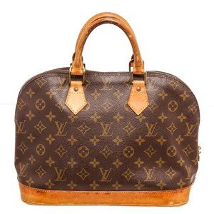 Louis Vuitton Canvas Leather Alma MM Handbag